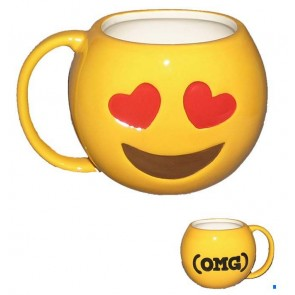 TAZA EMOTICONO AMOR
